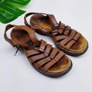 DANSKO Leather Sandals Ankle Straps